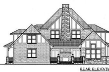 Home Plan - European Exterior - Rear Elevation Plan #413-131