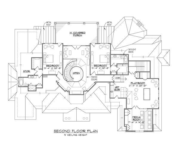 Dream House Plan - European Floor Plan - Upper Floor Plan #1054-91