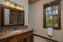 Craftsman style house design, bathroom photo