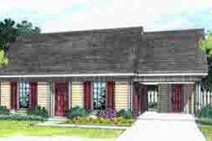 Ranch Exterior - Front Elevation Plan #45-254