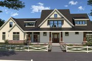 Farmhouse Style House Plan - 4 Beds 3.5 Baths 3290 Sq/Ft Plan #1070-36 Exterior - Front Elevation