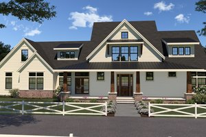 Farmhouse Exterior - Front Elevation Plan #1070-36
