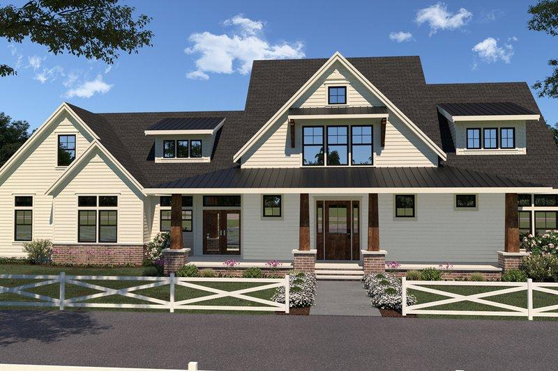 House Plan Design - Farmhouse Exterior - Front Elevation Plan #1070-36