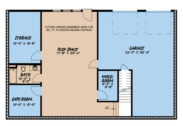 Architectural House Design - Country Floor Plan - Lower Floor Plan #923-126