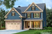 Craftsman Style House Plan - 4 Beds 3 Baths 2506 Sq/Ft Plan #419-202 Exterior - Front Elevation
