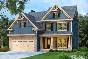 House Plan Design - Craftsman Exterior - Front Elevation Plan #419-202