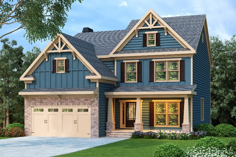 Craftsman Exterior - Front Elevation Plan #419-202