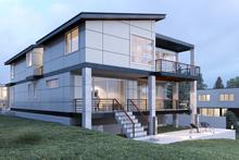 House Plan Design - Contemporary Exterior - Rear Elevation Plan #1066-35