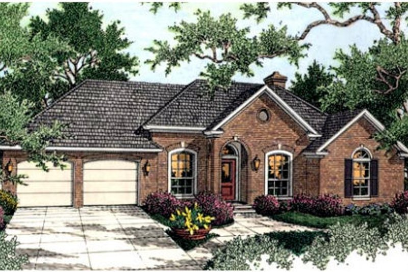Traditional Exterior - Front Elevation Plan #406-120 - Houseplans.com