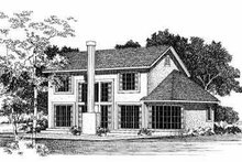 Home Plan - Traditional Exterior - Rear Elevation Plan #72-378