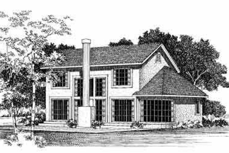 Traditional Exterior - Rear Elevation Plan #72-378 - Houseplans.com