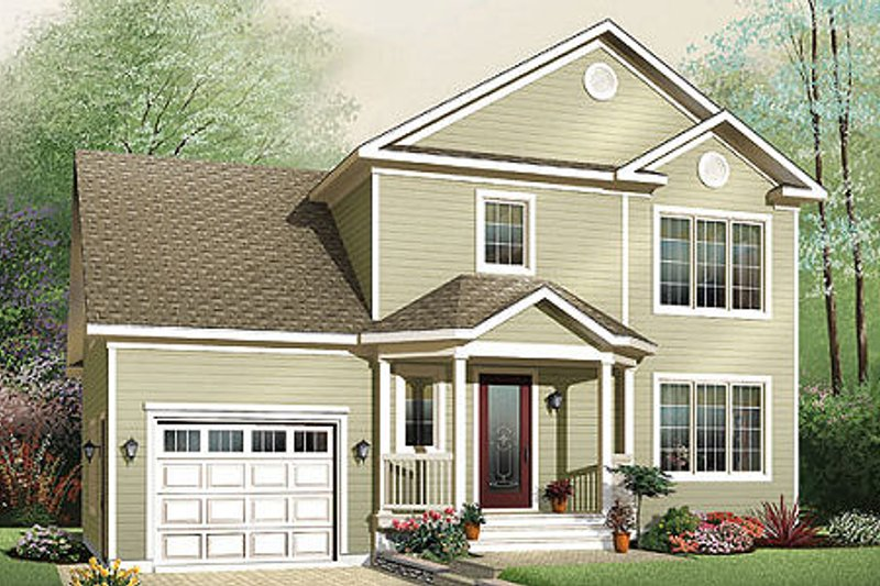 Traditional Exterior - Front Elevation Plan #23-659 - Houseplans.com