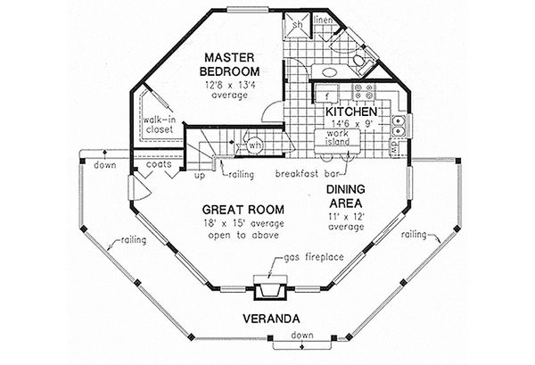 Country Floor Plan - Main Floor Plan #18-296