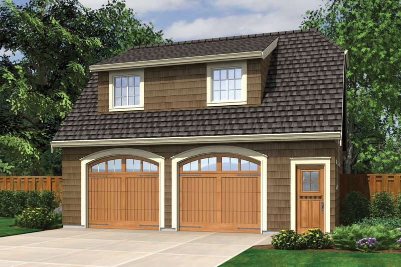 Traditional Style House Plan - 1 Beds 1 Baths 495 Sq/Ft Plan #48-629