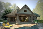 Craftsman Style House Plan - 4 Beds 4 Baths 3069 Sq/Ft Plan #120-178 Exterior - Rear Elevation