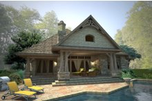 House Design - Craftsman Exterior - Rear Elevation Plan #120-178