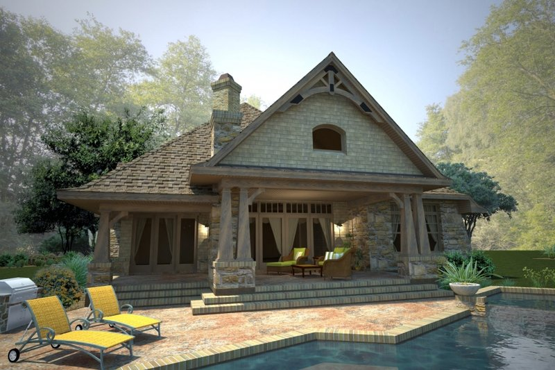 Craftsman Exterior - Rear Elevation Plan #120-178 - Houseplans.com