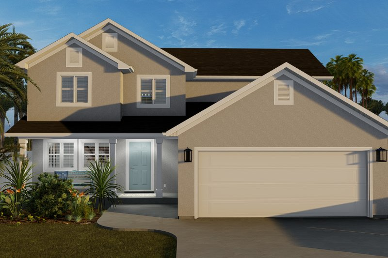 Dream House Plan - Traditional Exterior - Front Elevation Plan #1060-68