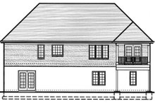 Traditional Exterior - Rear Elevation Plan #46-400
