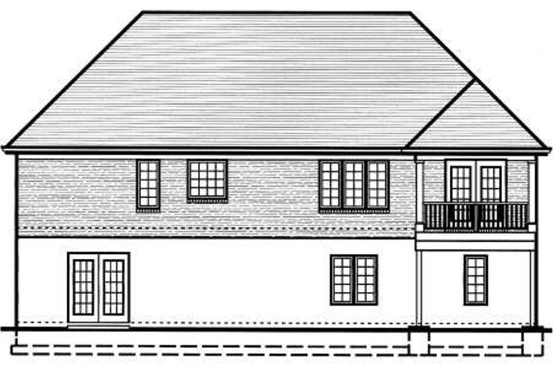 Traditional Exterior - Rear Elevation Plan #46-400 - Houseplans.com