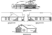 Cottage Exterior - Rear Elevation Plan #56-232