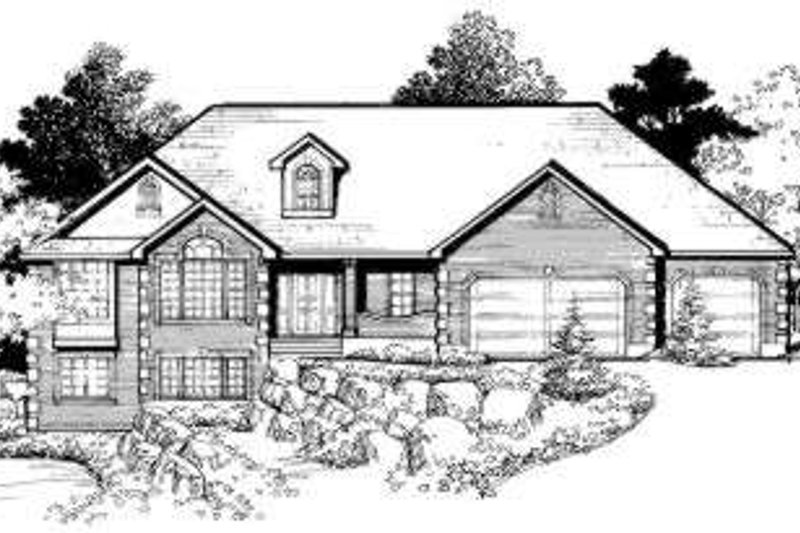 Traditional Style House Plan - 6 Beds 3 Baths 3936 Sq/Ft Plan #308-106 Exterior - Front Elevation