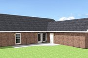Country Style House Plan - 4 Beds 3 Baths 1856 Sq/Ft Plan #44-115 Exterior - Rear Elevation