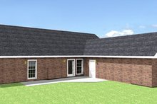 Country Exterior - Rear Elevation Plan #44-115