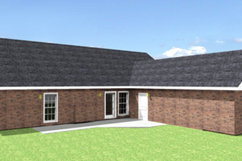 Country Exterior - Rear Elevation Plan #44-115 - Houseplans.com