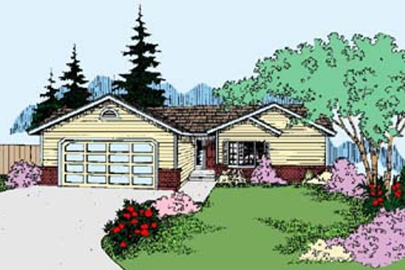 Ranch Exterior - Front Elevation Plan #60-538