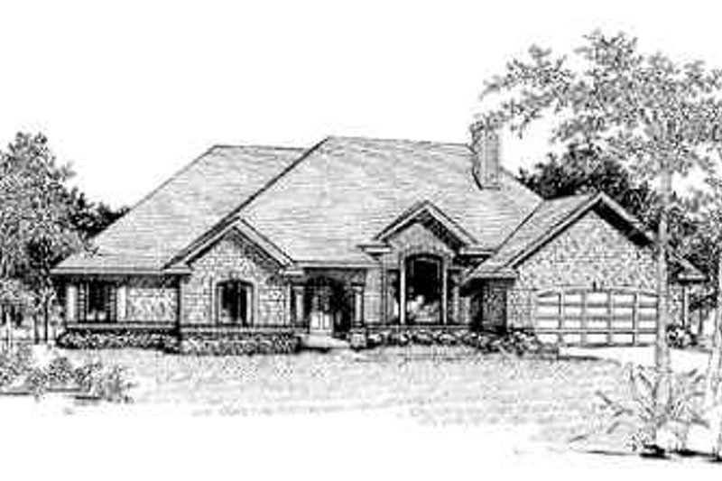 Traditional Exterior - Front Elevation Plan #70-363