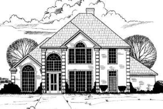 European Exterior - Front Elevation Plan #317-101