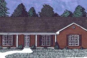 Ranch Exterior - Front Elevation Plan #69-101