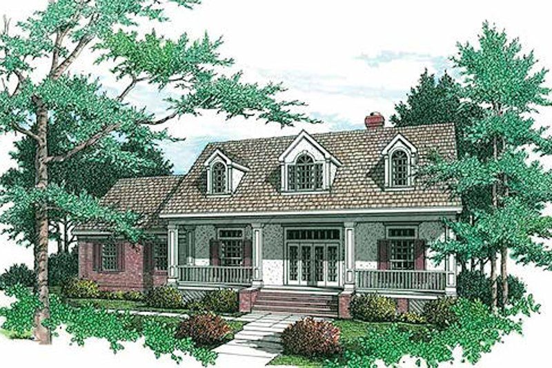 Farmhouse Exterior - Front Elevation Plan #45-133