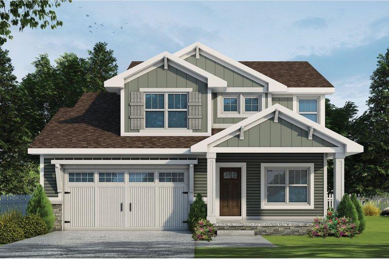 House Plan Design - Craftsman Exterior - Front Elevation Plan #20-2359