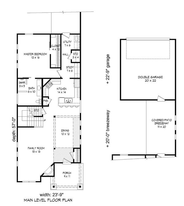 Country Floor Plan - Main Floor Plan Plan #932-20
