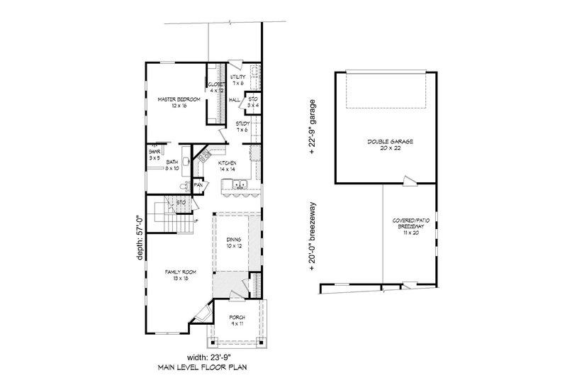 Country Floor Plan - Main Floor Plan Plan #932-20