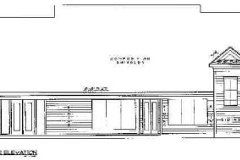 Country Exterior - Rear Elevation Plan #61-105 - Houseplans.com