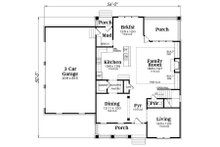 Craftsman Floor Plan - Main Floor Plan Plan #419-261