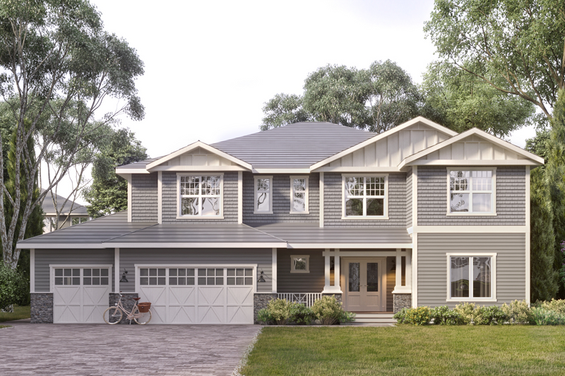 Architectural House Design - Craftsman Exterior - Front Elevation Plan #1066-26
