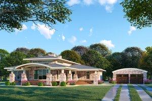 Modern Exterior - Front Elevation Plan #923-83