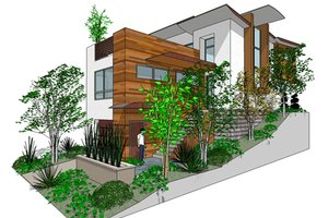 Modern Exterior - Front Elevation Plan #484-1