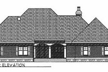Dream House Plan - Traditional Exterior - Rear Elevation Plan #70-367