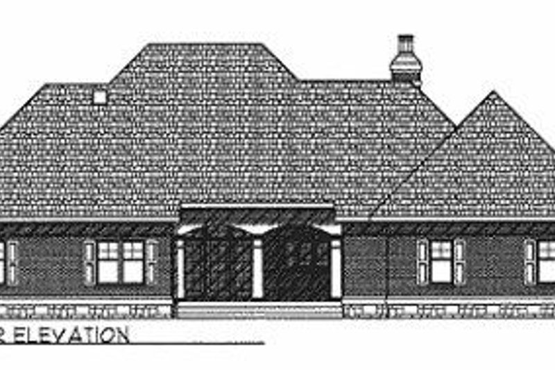 Traditional Exterior - Rear Elevation Plan #70-367 - Houseplans.com