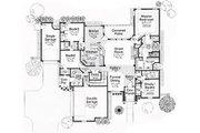 European Style House Plan - 4 Beds 3 Baths 2659 Sq/Ft Plan #310-267 Floor Plan - Main Floor Plan
