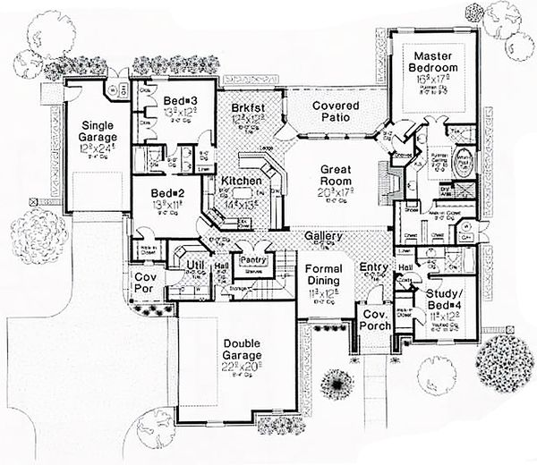 European Floor Plan - Main Floor Plan Plan #310-267
