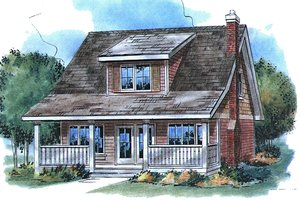 Country Exterior - Front Elevation Plan #18-2001