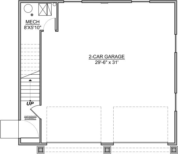 Craftsman Floor Plan - Main Floor Plan #1073-10
