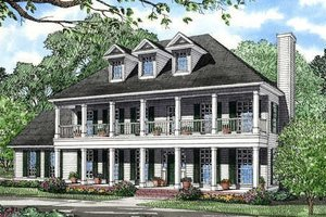 Southern Exterior - Front Elevation Plan #17-258