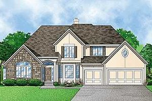 Traditional Exterior - Front Elevation Plan #67-102